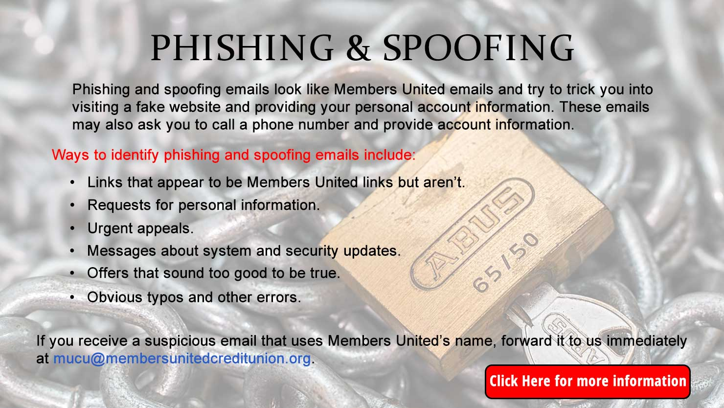 Phishing and Spoofing